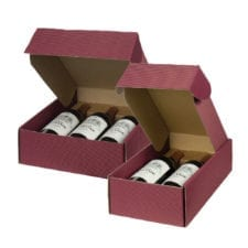 2 & 3 Bottle Burgundy Wine Gift Box
