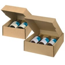Kraft Smooth Finish Wine Gift Box