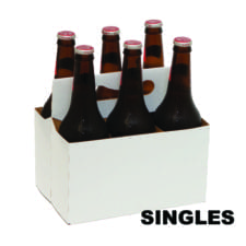 Product: single white 16 oz beverage carton, item # CBC-16OZ-SINGLE