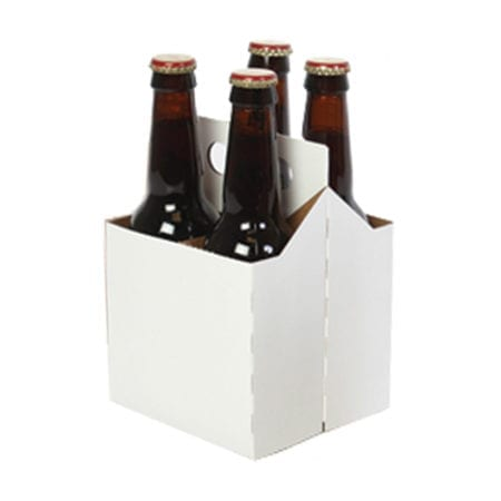 Product: White 4 Pack Carriers, item # CBC-4