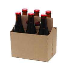 Product: Kraft 6 pack carriers, Item # CBC-6KRAFT