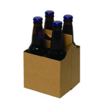 Product: kraft 4 pack carriers, item # CBC-4KRAFT