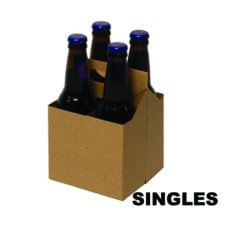 Product: single kraft 12 oz 4 pack caddies, item # CBC-4KRAFT-SINGLE