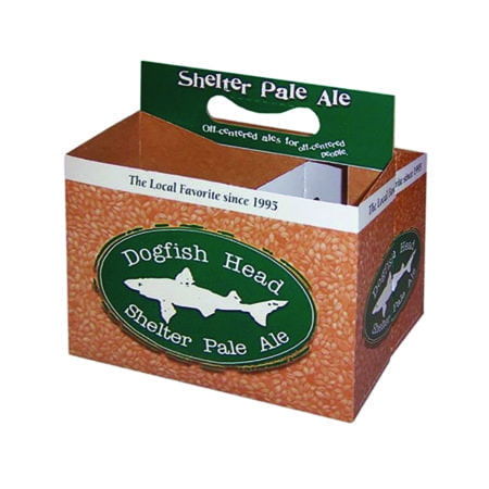 Example of CUSTOM PRINTED 6 Pack Cardboard Carriers for 16 oz. : ITEM #CBC-16OZCUST