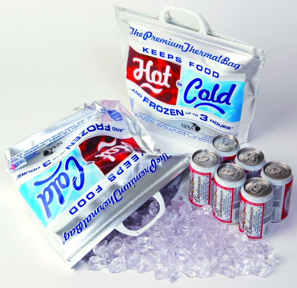 Product: small hot or cold insulated bag, item # COOLPAKSM