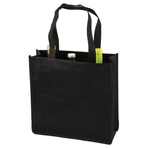 Reusable 3 Bottle Wine Tote Bags Unprinted Pak It Products