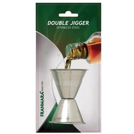 Product: Carded Stainless Steel Double Jigger, Item # FCJIG600
