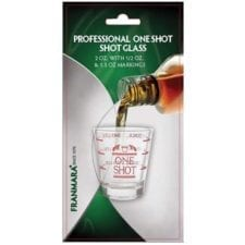 Product: carded 2 oz. glass shot glass, Item #FCSHOT