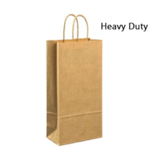 Product: Kraft 2 Bottle Wine Bag; ITEM # G2BTLKRAFT