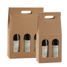 Textured Rib Wine Bottle Gift Carrier