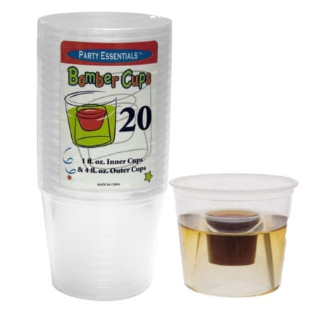 Product: Clear Soft Plastic Jägerbomb Cups: ITEM # JBOMB-CLR