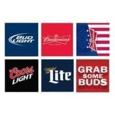 Beer branded neoprene can and bottle holder options