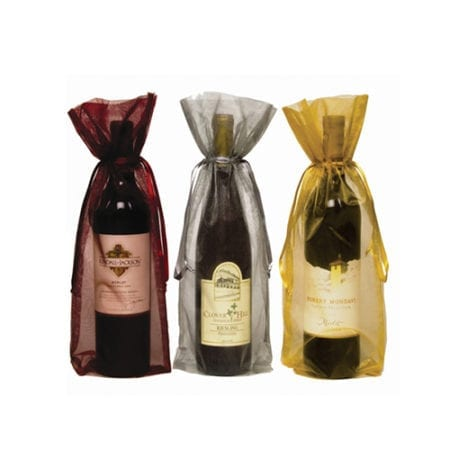 Product: Organza wine gift bags, item # ORGANZA