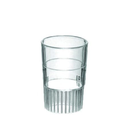 Product: heavyweight clear plastic shot glasses; ITEM # SHOTCLR