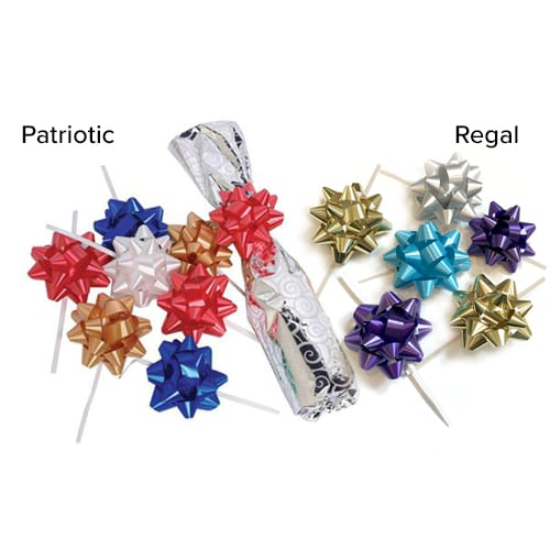 Product: 4-1/2 inch twist tie gift bows, item # TTB250