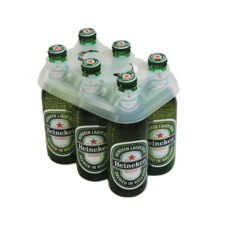 Product: 6 Pack Plastic or Glass Bottle Carrier, item # BC-100