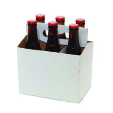 Product: White 6 Pack Carriers, item # CBC-100