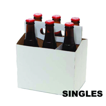 Product: SINGLE White Cardboard Carrier, item # CBC-100-SINGLE