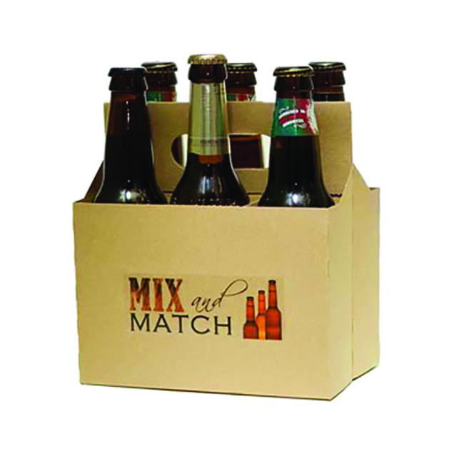 Producpromotional kraft brown 6 pack bottle carriers, item # PROMO-CBC-6KRAFT