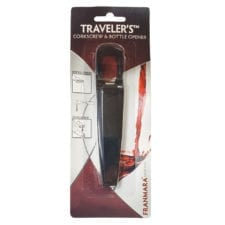 Product: traveler's corkscrew and bottle opener, item #fcorkbo