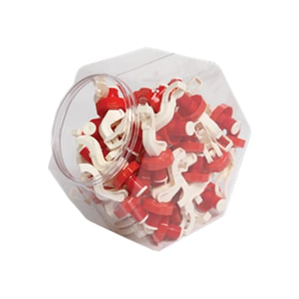 Product: Bottle stoppers in a display jar; ITEM # PBSTOPDJ