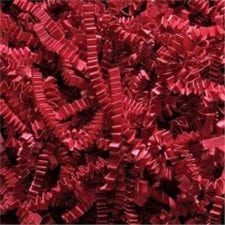 Red Crinkle Cut shredded basket filler
