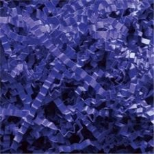 Royal Blue Crinkle Cut shredded basket filler