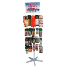 Product: PARTY CENTER Floor Spinner Rack complete with product, item #SPINPARTY