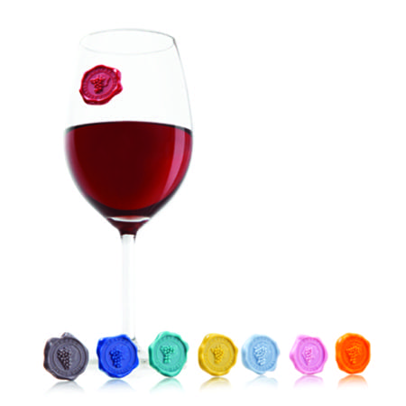 Product: Vacu Vin Wine classic grape glass markers, item #VACMARKER