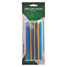 Product: cocktail stir & sip straws; ITEM # FSTRAW