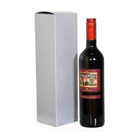 Silver 1 bottle gift box, item # WB1B-SILVER