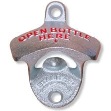 Product: wall mounted metal bottle opener, item # OBHOX