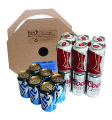 Universal Plastic 6 pack rings for beer cans, Item #BBP-204N