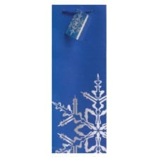 Product: Blue Snowflake Gift Bag; item # MGB Blue Snowflake
