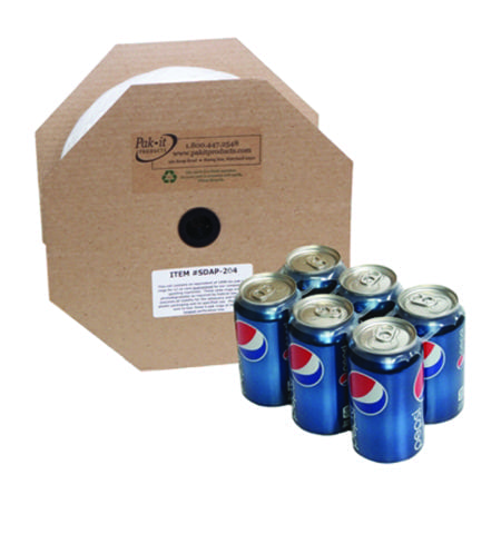 Perforated plastic 6 pack rings for soda cans, Item #SDAP-204
