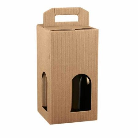 Product: 4 Bottle Wine Box Carrier; ITEM # IT-BC4TAW