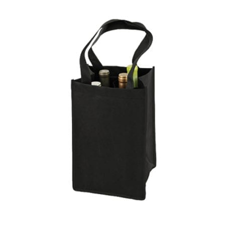 Product: reusable 4 bottle wine tote bags, item # CWT4TU