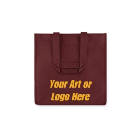 Burgundy reusable 6 Bottle Wine Tote Bags
