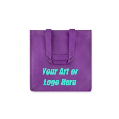 Purple reusable 6 Bottle Wine Tote Bags