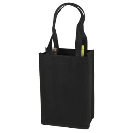 Product: reusable 2 bottle wine tote bags, item # CWT2TU