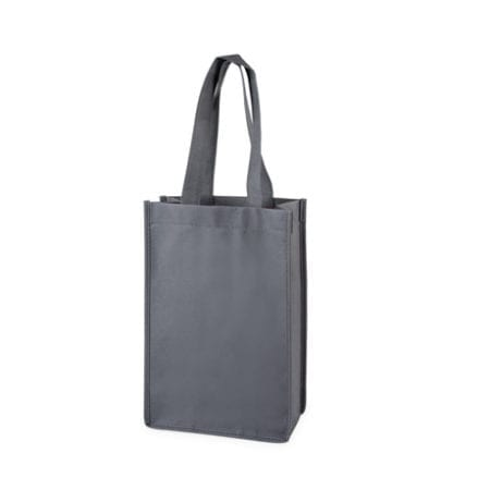 Gray 2 Bottle Tote