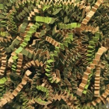 Camouflage Blend Crinkle Cut shredded basket filler