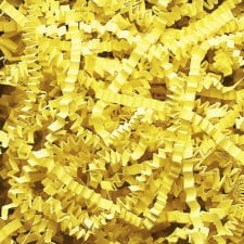 Canary Yellow Crinkle Cut shredded basket filler