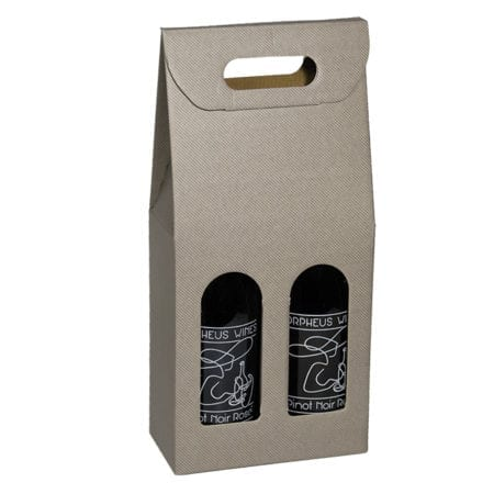 Gray Grooved Textured 2 bottle carriers