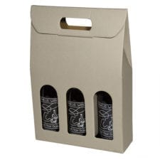 Gray Grooved Textured finish 3 bottle carriers