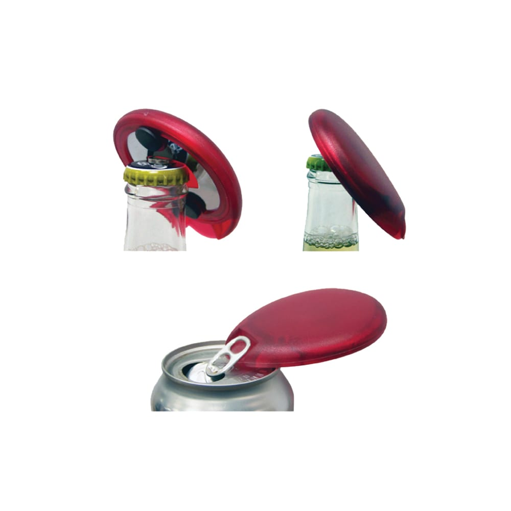Product: Magnetized Discus Bottle Cap and Tab Opener, item # FCDISC
