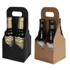 Product: 4 Pack 12 oz. Bottle Heavy Cardboard Totes, item # G4B