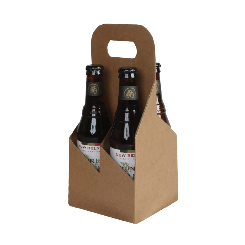 Product: 4 Pack 12 oz. Bottle Heavy Cardboard Totes, item # G4B-KFT