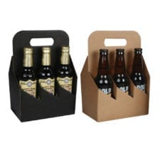 Product: 6 Pack 12 oz. Bottle Totes, item # G6B