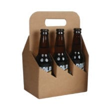 Product: 6 Pack 12 oz. Bottle Heavy Cardboard Totes, item # G6B-KFT
